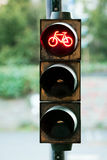 Stop sign bicycle Royalty Free Stock Images