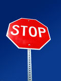 Stop Sign and Blue Sky Royalty Free Stock Photo