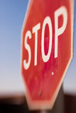 Stop Sign Blurred Motion. Blurred sign, possibly indicate of speeding/drinking and driving Royalty Free Stock Image