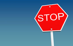 Stop sign board Stock Images