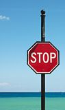 Stop Sign in the Caribbean royalty free stock photography