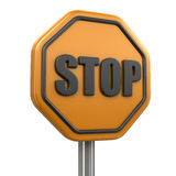 Stop sign (clipping path included) Stock Photography