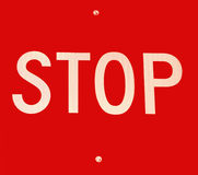 Stop sign. Close up of a stop sign Royalty Free Stock Images