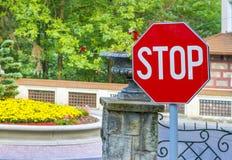Stop sign closeup Royalty Free Stock Photo