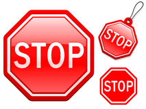 Stop sign collection Royalty Free Stock Photo