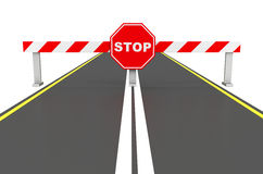 The stop sign Royalty Free Stock Image