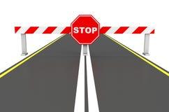 The stop sign Stock Photos