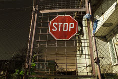 Stop sign on a door Royalty Free Stock Photo