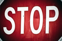 STOP Sign Dramatic Lighting Detailed View Royalty Free Stock Photos