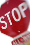 Stop sign dream stock photo