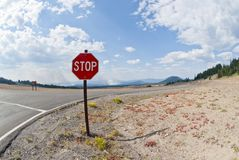 Stop Sign and Forest Fire Royalty Free Stock Photo