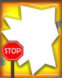 Stop Sign Frame. A funny stop sign frame Stock Illustration