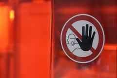 Stop sign/halt pictogram. Halt pictogram on transparent red ground Royalty Free Stock Image