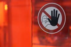 Stop sign/halt pictogram. Halt pictogram on transparent red ground Stock Photography