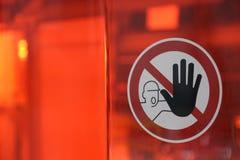 Stop sign/halt pictogram. Halt pictogram on transparent red ground Stock Image