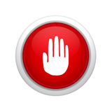 Stop sign icon Royalty Free Stock Photography