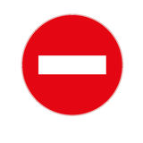 Stop sign icon. Isolated On a White Background Royalty Free Stock Image