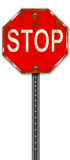 Stop Sign Illustration. This is an illustration of an old rusty stop sign. It is simple, clean, and easy to apply to any graphic file it may be needed for vector illustration