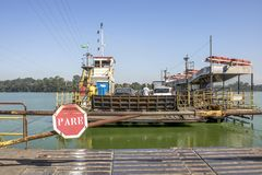 Free Stop Sign In Entrance Of Ferry Boat Stock Photography - 114639872