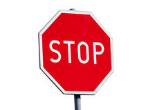 Stop sign isolated Royalty Free Stock Image