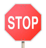 Stop Sign - Isolated Stock Photography