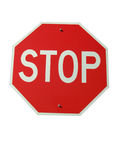 Stop Sign-Isolated. Isolated sign reading STOP, as in four way stop sign Royalty Free Stock Photo