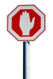 A Stop-Sign - Isolated Royalty Free Stock Image