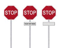 STOP Sign - Isolated - Blank Stock Photography