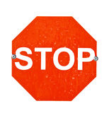 Stop Sign Isolated on White stock photography