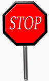 Stop sign isolated on white Stock Image