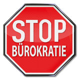 Stop sign with no bureaucracy Stock Photos