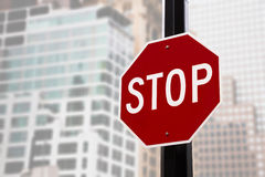 Stop sign in NYC Stock Images