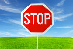 stop sign in outdoor Stock Photography