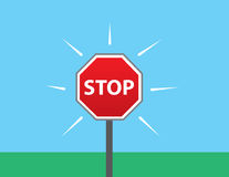 Stop Sign Outside Stock Photo
