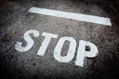 Stop sign Royalty Free Stock Photography
