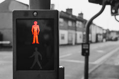 Stop sign on pedestrian crossing Stock Photo