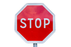 Stop sign photo isolated on white Stock Photo