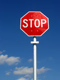 Stop Sign & Pole - Vertical Stock Photography