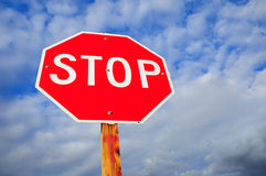 Stop sign. Royalty Free Stock Image