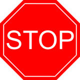 Stop sign red Stock Photos