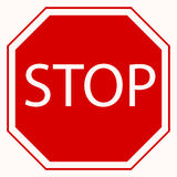Stop sign. Red octagonal . Vector Royalty Free Stock Images