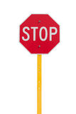 Stop sign with reflect surface Royalty Free Stock Images