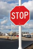 Stop sign in residential area Stock Photo