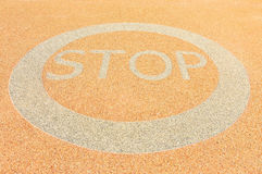 Stop. Sign on road area Stock Photography