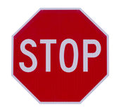 Stop sign roadside warning sign Royalty Free Stock Photography