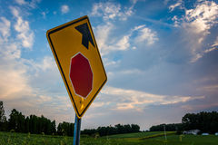 Stop sign in rural York County, Pennsylvania. Stock Photography