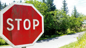 Stop sign rusted Royalty Free Stock Images