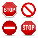 Stop sign, set. Stock Photo