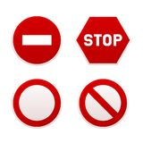 Stop Sign Set. Vector. Stop Sign Set on White Background. Vector illustration Royalty Free Stock Image