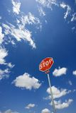 Stop sign in sky. Stock Photography